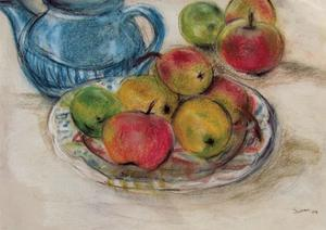 Still Life with Blue Teapot 2 by Susan Adams