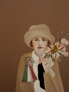 Suffragette with Golden Orb, 2017 by Susan Adams
