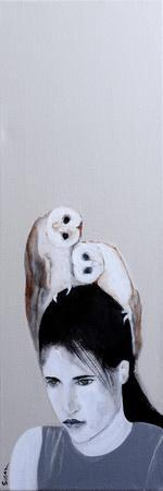 Woman with Two Owls, 2016,