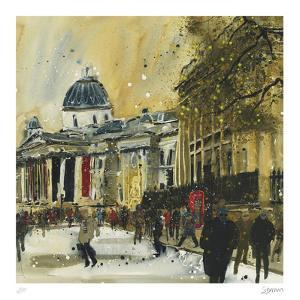 Approaching Trafalgar Square, London by Susan Brown