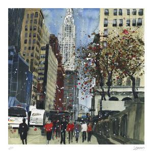First Glimpse of the Chrysler Building, New York by Susan Brown