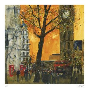 Morning Rush, London by Susan Brown