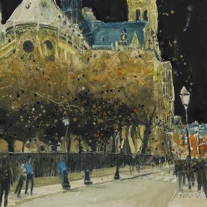 Rue de Cloitre Notre Dame, Paris by Susan Brown