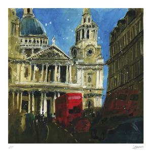 Today and Yesterday St. Paul's, London by Susan Brown