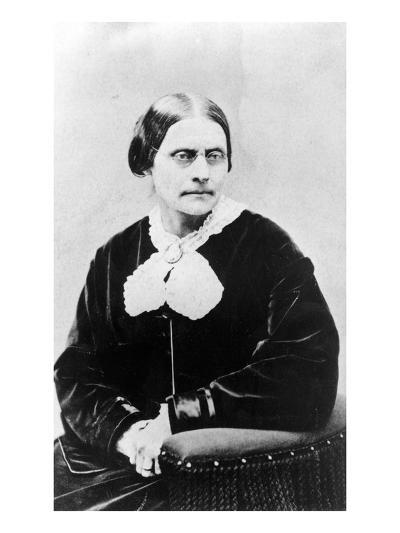 Susan Brownell Anthony (1820-1906) C.1871 (B/W Photo)-American Photographer-Giclee Print