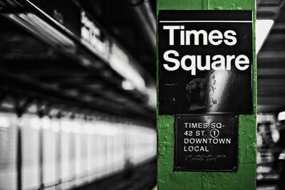 Times Square Subway Green