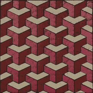 3 Part Tumbling Block (Red) by Susan Clickner