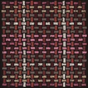 Basketweave Straight (Red) by Susan Clickner