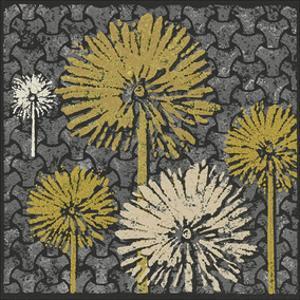 Dandelion on Interwoven Balls (Yellow) by Susan Clickner