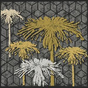 Dandelion on Tumbling Blocks (Yellow) by Susan Clickner