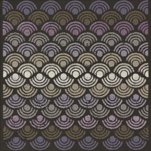 Dot Waves - Plum by Susan Clickner