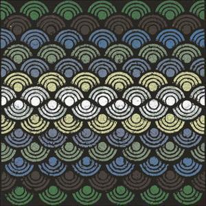 Dot Waves (Teal) by Susan Clickner