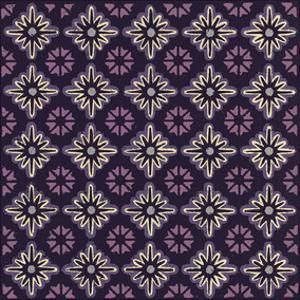 Moroccan Twelve Point Star (Purple) by Susan Clickner