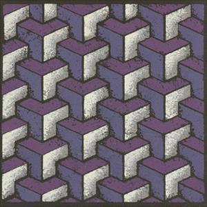 Three Part Tumbling Blocks - Plum by Susan Clickner