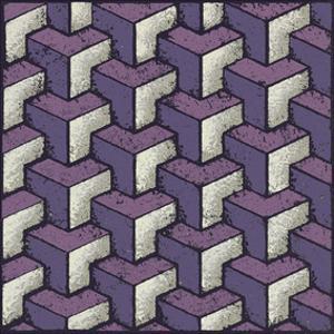 Three Part Tumbling Blocks (Purple) by Susan Clickner