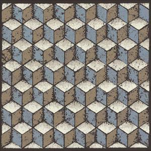 Tumbling Blocks (Blue) by Susan Clickner