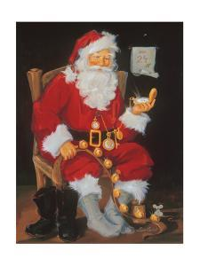 Santa In Chair by Susan Comish