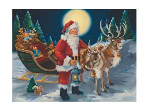 Santa with lantern by Susan Comish