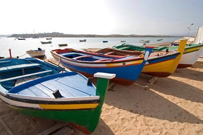 Colorful Fishing Boats of Alvor, Portugal, Europe