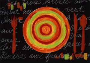 Striped Plate- Orange by Susan Gillette