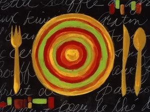 Striped Plate- Yellow by Susan Gillette