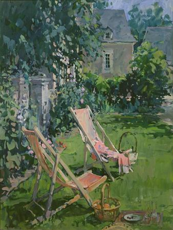 Deck Chairs at Coudray, 1998