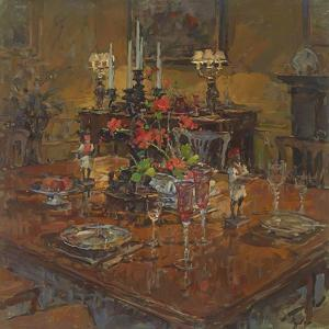 Dining Room with Geraniums by Susan Ryder