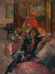 Mrs Peter Hambro, 1996 by Susan Ryder