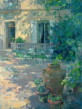 Terrace with Urns