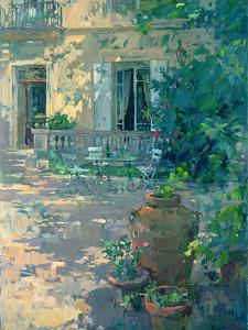 Terrace with Urns by Susan Ryder