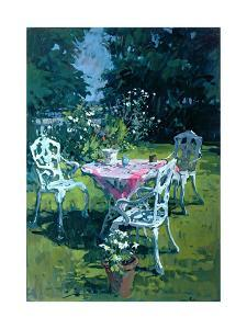 White Chairs at Belchester, 1997 by Susan Ryder
