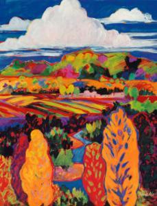 Rio Grande Valley Farmlands, Santa Fe Opera, 1999 by Susan Schwartz