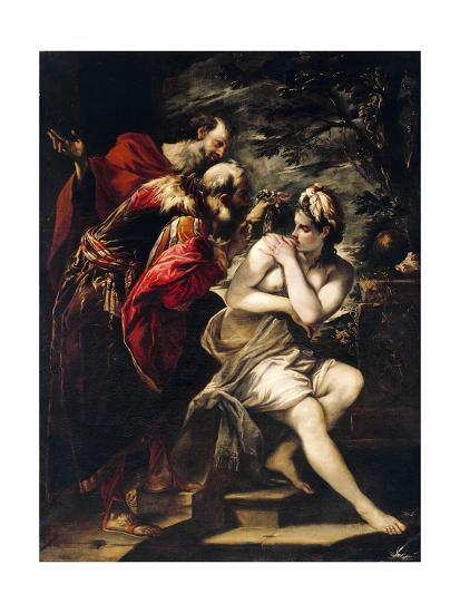 Susanna and Elders-Giovanni Antonio Burrini-Giclee Print
