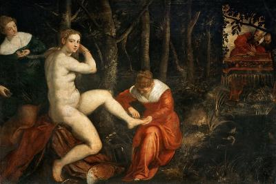 Susanna and the Elders-Jacopo Tintoretto-Giclee Print