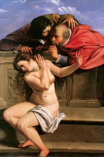 Susannah and the Elders, 1610-Artemisia Gentileschi-Giclee Print