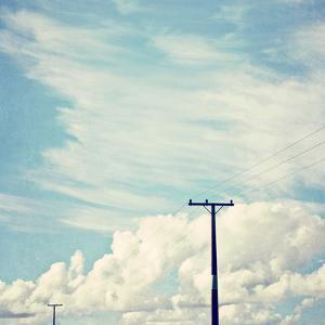 Blue Sky And Clouds with Power Lines 2 by Susannah Tucker