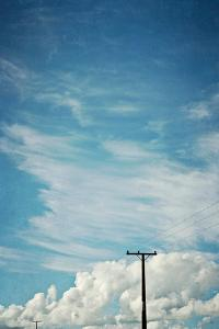 Blue Sky And Clouds with Power Lines by Susannah Tucker