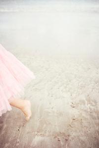 Girl in Tulle At Beach Edge 6 by Susannah Tucker