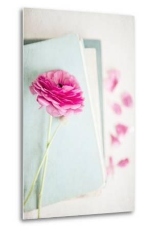 Pink Flower with Books