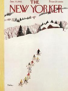 The New Yorker Cover - January 27, 1962 by Susanne Suba