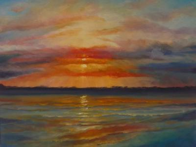 Suset, 2013 Seascape-Lee Campbell-Giclee Print