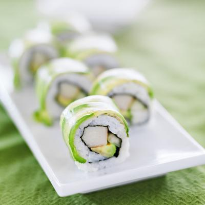 Sushi - Dragon Roll with Avocado and Crab Meat-evren_photos-Photographic Print
