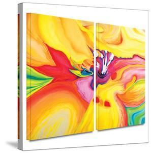 Secret Life of Lily 2 piece gallery-wrapped canvas by Susi Franco