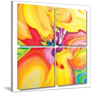 Secret Life of Lily 4 piece gallery-wrapped canvas by Susi Franco