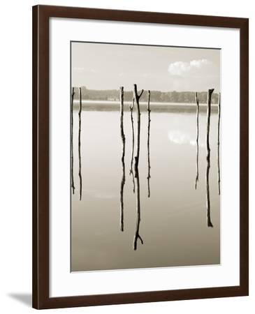 """""""Suspended in the Air"""" – Reflected in Water Remains of the Old Jetty on the-Nadia Isakova-Framed Photographic Print"""