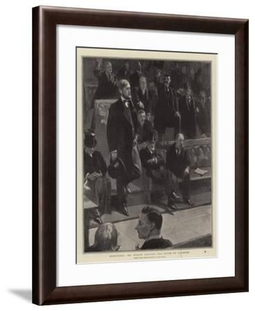 Suspended, Mr Dillon Leaving the House of Commons-Sydney Prior Hall-Framed Giclee Print