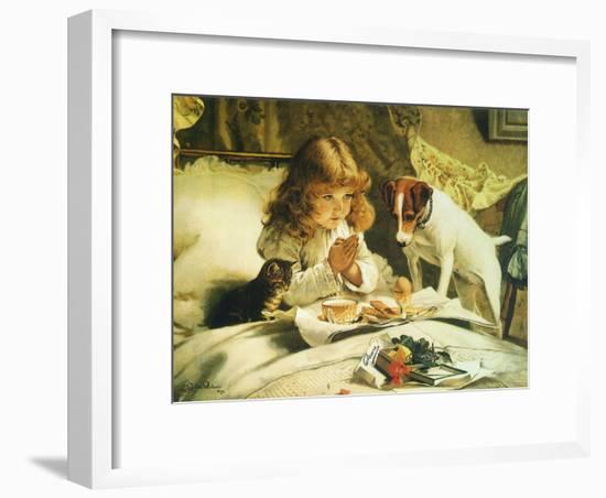Suspense, 1894-Charles Burton Barber-Framed Giclee Print