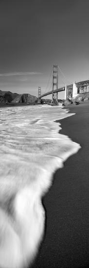 Suspension Bridge across a Bay, Golden Gate Bridge, San Francisco Bay, San Francisco--Premium Photographic Print