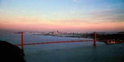 Suspension Bridge across a Bay, Golden Gate Bridge, San Francisco Bay, San Francisco--Photographic Print