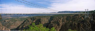 Suspension Bridge across a Canyon, Royal Gorge Suspension Bridge, Colorado, USA--Photographic Print